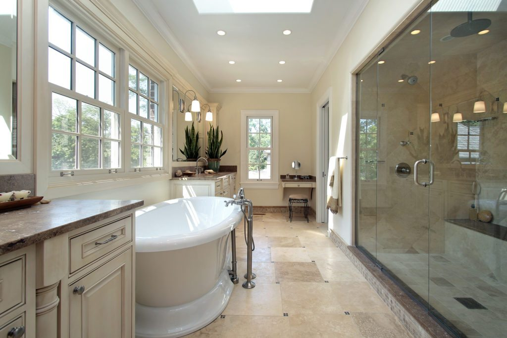 3 luxury bathroom flooring options - charlotte homes for sale